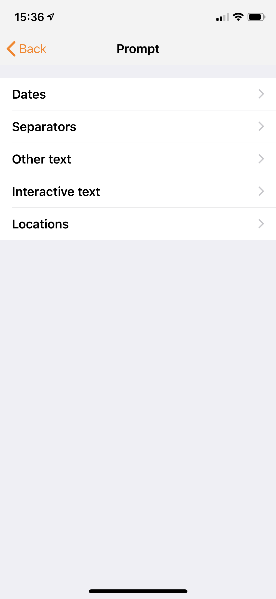The interactive text category